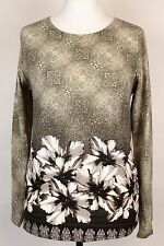 NEW WOMEN  TUNIC BLOUSE size 12/14 TOP   LONG SLEEVE  LADIES  b 5491