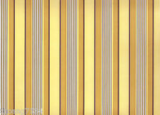 Yellow Tan Brown Stripe Vinyl Contact Paper Sheet Shelf Drawer Liner Peel Stick