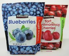 2.5 LB Kirkland Signature Whole Dried Blueberries + Montmorency Cherries 2 Bags