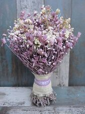 Beautiful Wedding Bouquet Dried Flowers Mother's Day Gift Fuchsia/Pink Natural