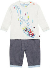 New Designer Baby Boys Ted Baker Logo Cotton Bodysuit Romper 0-3 Months