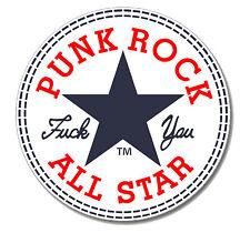 PUNKROCK ALLSTAR Punk Button Pin NEU 2,5cm Punk Oi! Skinhead Buttons Pins HC