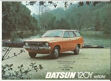 DATSUN 120Y ESTATE SALES 'BROCHURE'/SHEET 1976