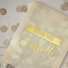 Ginger Ray Gold and Ivory Tissue Paper Confetti, Table Confetti, Paper, gold,