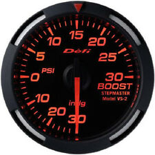 Defi Racer Turbo Boost Gauge -30inHg to +30PSI 52mm w/ Red LED DF06502 NEW