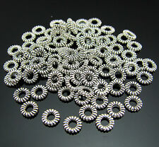 FREE LOTS Tibetan silver Circle Pendant Jewelry Repair spacer Ring Connector 5mm