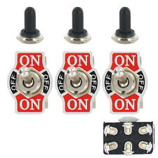 3 X Heavy Duty 20A 125V DPDT 6P On/Off/On Rocker Toggle Switch Waterproof Boot