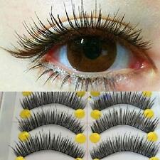 10Pairs Long Cross False Eyelashes Makeup Natural Fake Thick Black Eye Lashes