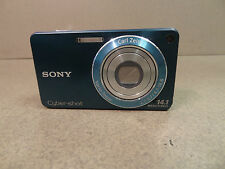 AS IS FOR PARTS OR REPAIR SONY CYBERSHOT DSC-W530 14.1 MP DIGITAL CAMERA - BLUE