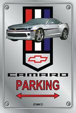 Parking Sign - Chevy Silver Camaro RS 2015 Logo Look