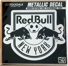 "New York Red Bulls 6"" Silver Metallic Style Vinyl Auto Decal MLS Soccer Club"