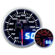 Prosport 52mm Smoked White Amber Oil Temperature Deg C Gauge with Dual Display