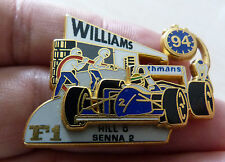 PIN'S F1 FORMULA ONE WILLIAMS RENAULT ROTHMANS AYRTON SENNA STAND 94 ZAMAC