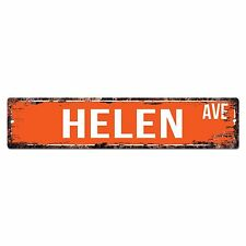 SWNA0015 HELEN AVE Street Chic Sign Home Store Shop Wall Decor Birthday Gift