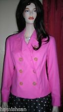 Lilly Pulitzer Hot Pink Hibiscus Cotton Pique Jacket Sz Small NWT