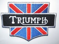 Triumph motorcycle sew / iron on patch biker UK Seller NEW classic embroidered