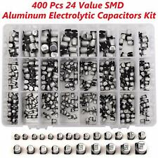 400Pcs 1uF-1000uF SMD Aluminum Electrolytic Capacitors Assortment 24 Value Kit