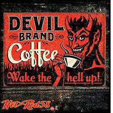 Devil Brand American Hot Rod Garage Vintage Advertising Metal Tin Wall Signs UK