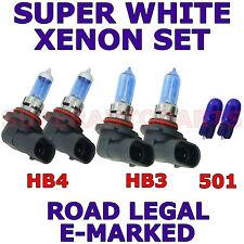 BMW 3 COMPACT E 36 E35 1995-2000 SET HB3  HB4  501 XENON SUPER WHITE LIGHT BULBS