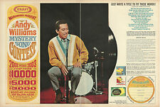 1966 vintage ad, Andy William's 'Mystery Song' Contest, double ad--  070913d