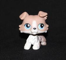 Littlest Pet Shop LPS Gray & White Toy COLLIE #67 Blue Eyes Grey Dog