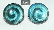 Ohrringe/Stecker aus 925er Silber mit Doublette Glas (da4340)
