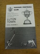 08/04/1970 Fulham v Luton Town  . Unless stated previously in the description th