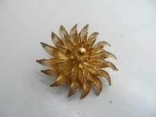Large Portuguese Topazio 925 Silver  Filigree Flower Brooch 15.2g No Reserve