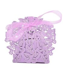 10/50/100pcs Butterfly Ribbon Gift  Paper Box Wedding Party Favor Paper Bag