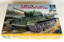 T-34/76 Soviet Medium Tank 1/35 Italeri 282 Discontinued