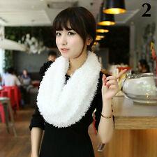 New Women's Winter Warm Infinity Circle Knit Cowl Neck Faux Fur Scarf Wrap Shawl