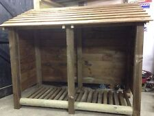 LOG STORE/ FIRE WOOD SHELTER. RUSTIC YET STYLISH, STURDY AND FUNCTIONAL.