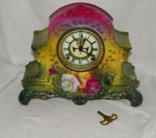 Antique Royal Bonn La Nord Porcelain Mantel Clock