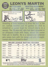 2016 Topps Heritage High Numbers #593 Leonys Martin BUBBLE GUM STAINED BACK