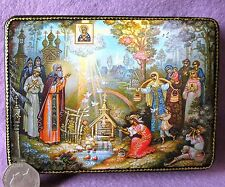 Russian GICLEE Lacquer Box Theotokos Mother of God ICON Traditional Celebration