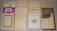 12 Vintage 1904-1936 Piano Sheet Music Lot Punch & Judy Schumann Mendelssohn