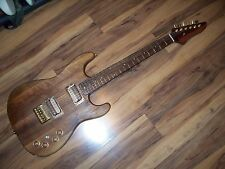 WALNUT STRATOCASTER, CUSTOM BUILD, 2 HUMBUCKERS, HARD TAIL,SOLID WALNUT