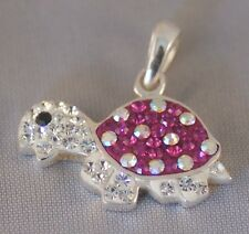 Turtle Necklace [ 925 Sterling Silver & Cubic Zirconia ] Pendant