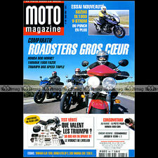 MOTO MAGAZINE N°185 TRIUMPH SPRINT ST 955 SPEED TRIPLE SUZUKI DL 1000 V-STROM