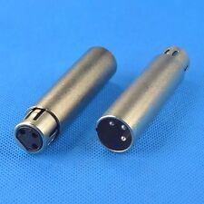 3 Pin XLR Male to 3 Pin XLR Female jack Coupler Adapter Connector