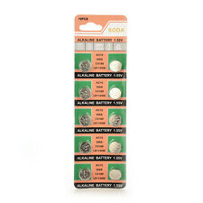 New 10pcs AG10 LR1130 389A LR54 L1131 189 Alkaline Cell Button Battery QW