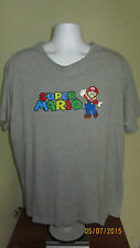 2XL Nintendo Super Mario Gray T-Shirt Short Sleeve NES SNES N64 Gamecube Wii U