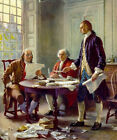 Writing The Declaration of Independence 1776 Benjamin Franklin America Painting
