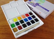 18 Colors Pocket Sakura Solid Sketch Water Color Assorted Box Set +Free Brush