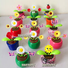 Solar Power Flip Flap Flower For Car  Decoration Swing Dancing Flower Toy Gift