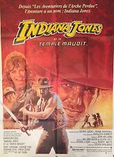 """INDIANA JONES AND THE TEMPLE OF DOOM"" Orig Rare French movie poster/Huge 47x63"