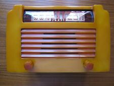 De Wald A-502 Catalin Radio 1946 Yellow/Yellow Insert Grille Excellent