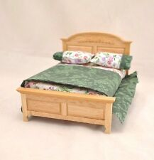 Double  Bed dollhouse miniature furniture 1/12 scale CLA10796 wood