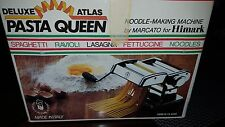 Atlas Pasta Queen Deluxe Noodle Maker Marcato Himark Made In Italy Mint in Box