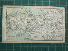 1904 SMALL MAP ~ ASIA MINOR ~ HALEB KURDISTAN ARMENIA SMYRNA MESOPOTAMIA